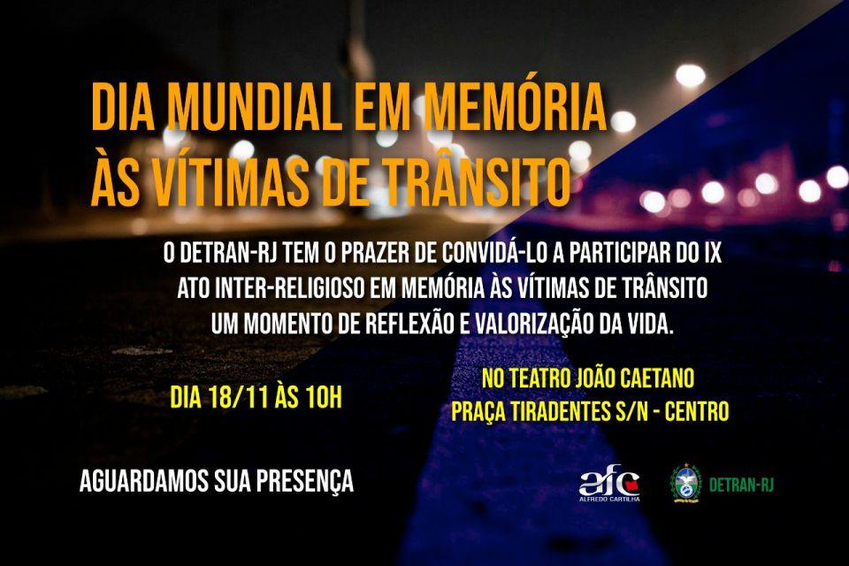 Dia mundial em memória das vítimas de trânsito